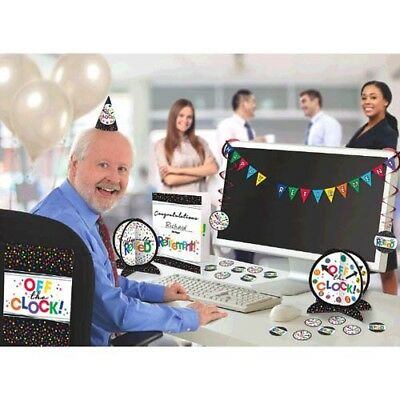 Office Birthday Decorations (RETIREMENT OFFICE DECORATING KIT (28pc) ~ Adult Birthday Party Supplies)
