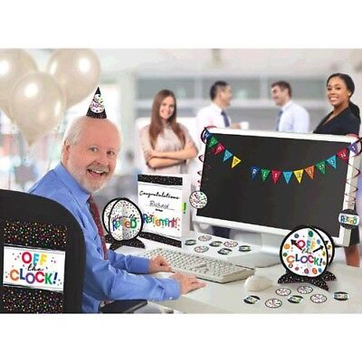 RETIREMENT OFFICE DECORATING KIT (28pc) ~ Adult Birthday Party Supplies Work