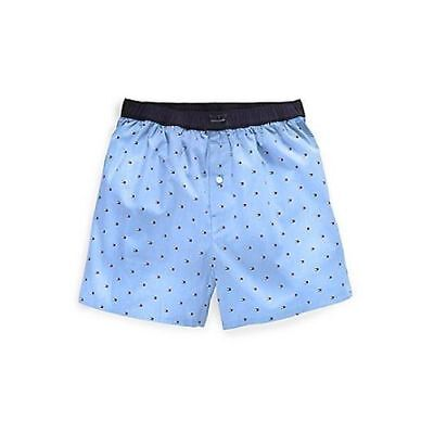 NWT Tommy Hilfiger CLASSIC WOVEN Micro Flag Printed Boxer Shorts Blue Size: S ()