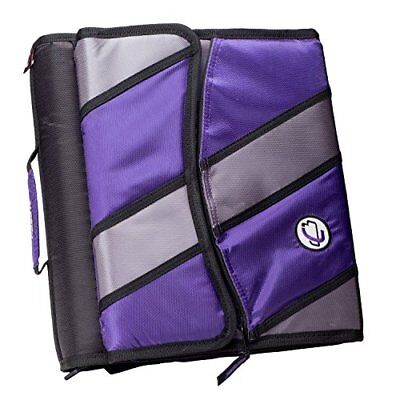 Case-it Sidekick 2-inch O-ring Zipper Binder With Removable Tab File Purple D-
