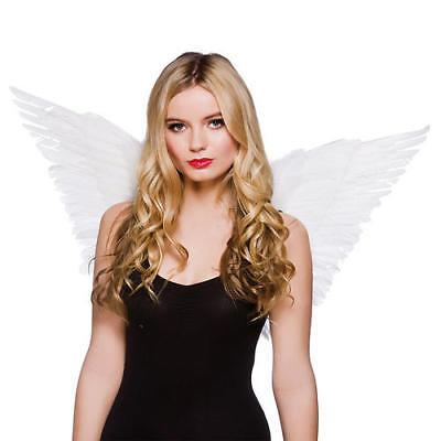 Angel Wings Ladies Fancy Dress Christmas Womens Costume Acc (Kostüm Feather Wings)