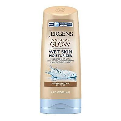 Jergens Natural Glow In Shower Lotion, Self Tanner for Medium to Tan Skin Tone,