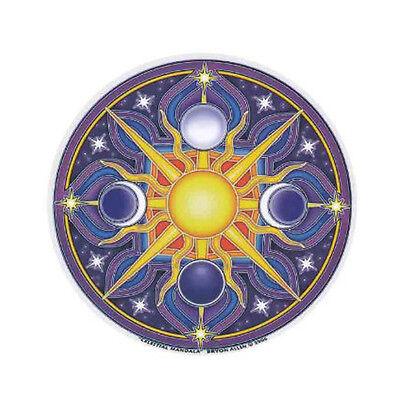 Mandala Arts Celestial Sun & Moon 2 Sided High Quality Circle Window Sticker