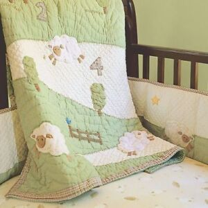 Pottery Barn Baby Crib Beddings Set - Lambie Chamois