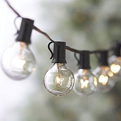 25FT Outdoor G40 25 Bulbs Globe  Patio String Lights Christm