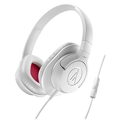 AudioTechnica ATH-AX1iS SonicFuel Over-Ear Headphones (White) Audio Technica White Headphone