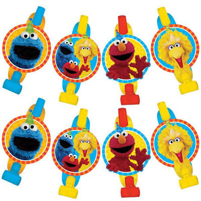 Party Blowouts (SESAME STREET Stars Blowouts (8)  Birthday Party Supplies Favors Elmo Big)
