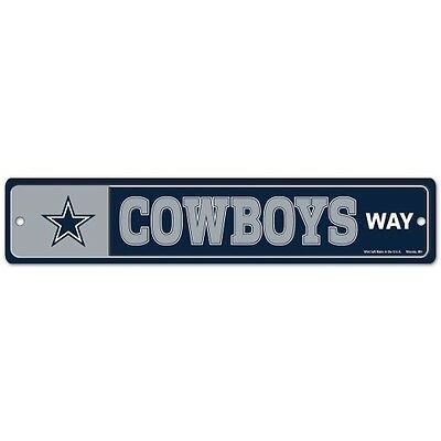 DALLAS COWBOYS WAY ~ NFL Team Logo 3.75 x 19 Wall Display Street Sign Decoration](Dallas Cowboys Room Decor)