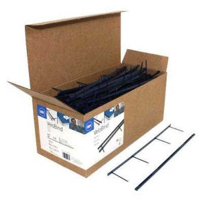 Gbc Premium Navy Velobind 4pin Reclosable Binding Strips - 100pk