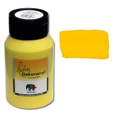 Dekoracryl Echtgelb hell 750 ml Acryl Gelb (6,85€/1L)