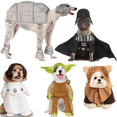 Pet Dog Cat Yoda Costume Rubies Fancy Dress Star Wars Outfit HalloweenS-XL](Yoda Cat Costume)