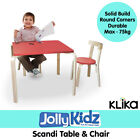 Birch Dining Chairs and Tables for Children