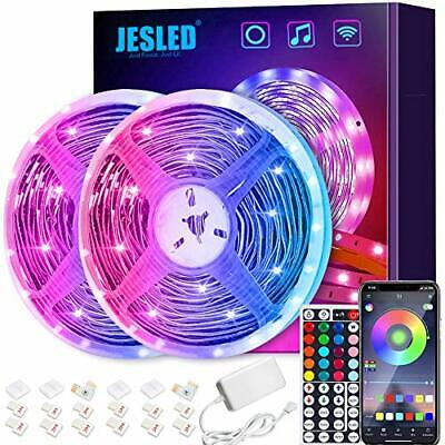 Tiras LED Wifi JESLED 10M Tira de LED RGB Compatible con Alexa...