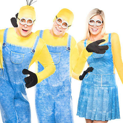 Minion Adults Fancy Dress Despicable Me Cartoon Movie Mens Ladies Costumes ](Minion Lady Costume)