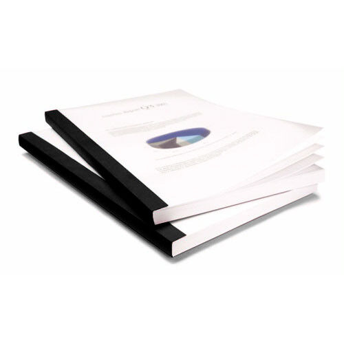 "New Coverbind 1/16"" Black Clear Linen Thermal Covers 100pk - 575300"