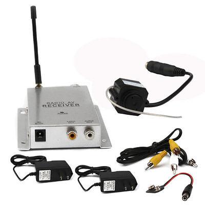 Wireless 2.4GHz Mini 380TVL CCTV Security Camera Transmitter with Receiver B2