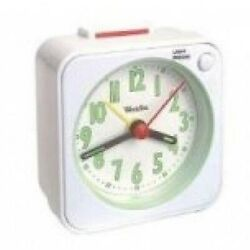 Westclox Gen Quartz Travel Alarm (White)