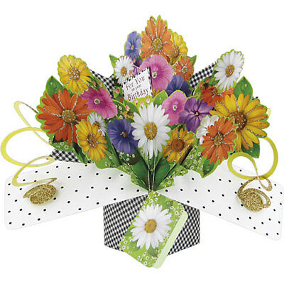 3D Pop Up Greeting Card by Second Nature - FLOWERS (FOR YOU) - SN-POP-143