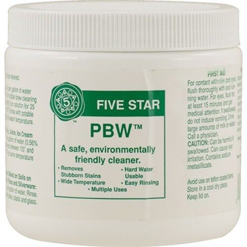 PBW Cleaner Sanitizer Home Wine Beer Making Brew Brewing Supplies 8 oz 1 2 4 lb