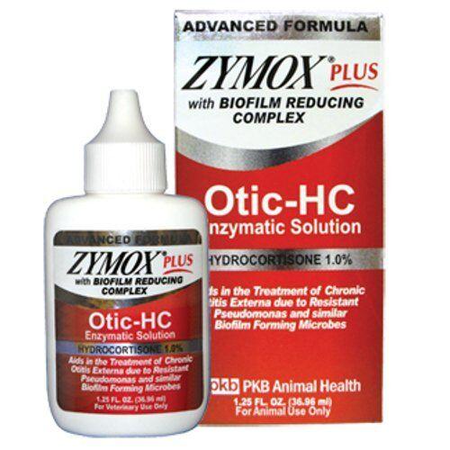 Zymox Plus Otic Hc 1 25 Fl Oz Hydrocortisone 1 0 Dog