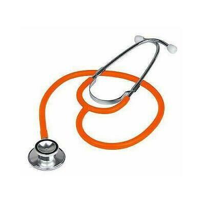 Brand New Professional Double Dual Head Orange Stethoscope In Box