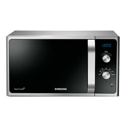 Samsung MS 23 F301 EAS Solo Mikrowelle 23 Liter 800W LED Timer schwarz silber