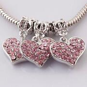 Rhinestone Heart Charms