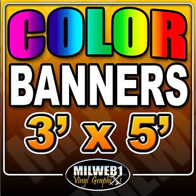 3x5 Custom Vinyl Banner 13oz Full Color 36x60