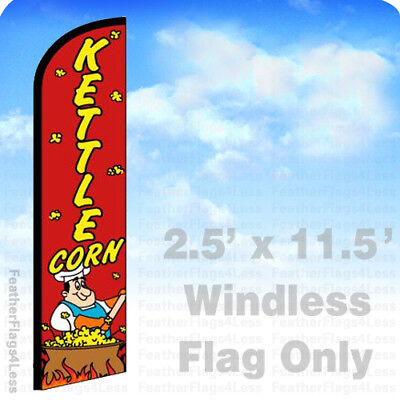 Kettle Corn - Windless Swooper Flag Feather Banner Sign 2.5x11.5 Rf