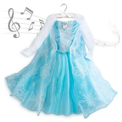 Disney Eiskönigin Elsa Kostüm Kleid mit Musik Gesang Fasching Karneval 140 NEU ()