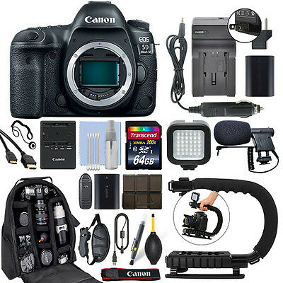 Canon EOS 5D Mark IV 30.4MP Full Frame 4K DSLR Camera Body + 64GB Pro Video Kit for sale  Shipping to India