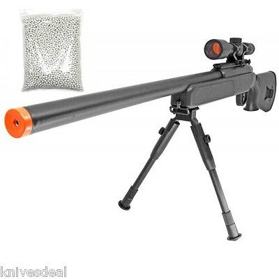 415 FPS ZM51 Spring METAL Bolt Action Airsoft Sniper Rifle BiPod Scope