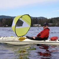 "New Kayak Sail 46"" round Includes zippered storage pouch...$70."