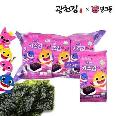 Baby Shark Kids Crispy Korean Seasoned Seaweed Laver Healthy Snack (4gX18ea)
