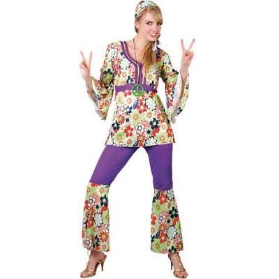 Hippie Chick Plus Size Large 18-20 Hippy Trouser - Hippie Fancy Dress Plus Size