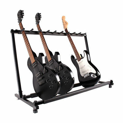 9 Guitar Folding Rack Storage Organizer Stand Holder Electric Acoustic Bass 2017