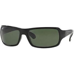 8d84b4b3c959e3 Ray-Ban RB4075 Women s Rectangular Polarized Sunglasses - Black for ...