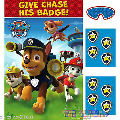 Paw Patrol Party Games (PAW PATROL PARTY GAME POSTER ~ Birthday Supplies Decorations Plastic)