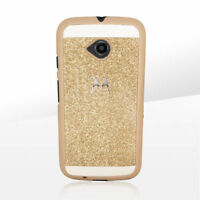 Gold glitter case for Moto E (2nd gen)