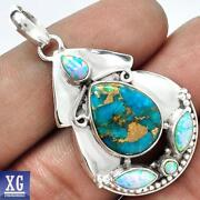 Blue Fire Opal Pendant