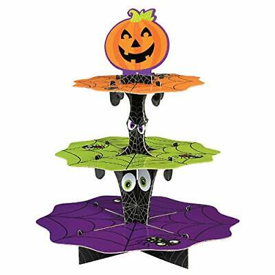 PUMPKIN CUPCAKE TREAT STAND Halloween Party Decorations Table Food Holder Spider