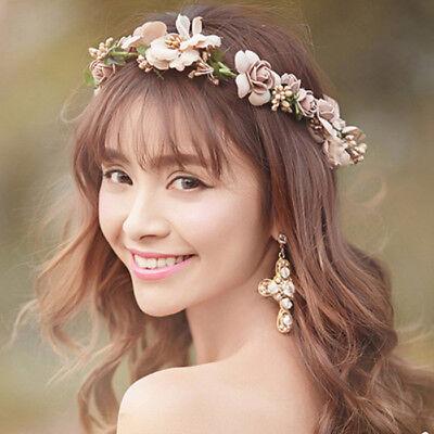Flowers Hair Wedding - US SELLER Boho Floral Flower Crown Headband Hair Garland Wedding Party