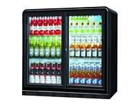 Used Double lockable beer fridge