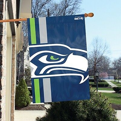 Seattle Seahawks 24 x 36 Bold Logo Banner Flag