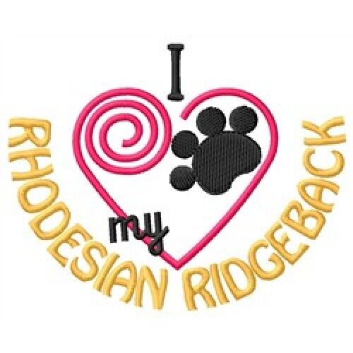 "I ""Heart"" My Rhodesian Ridgeback Long-Sleeved T-Shirt 1316-2 Size S - XXL"