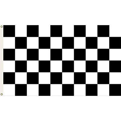 2x3 Checkered Black and White Flag 2'x3' Banner FAST SHIP by FanzofSportz - Black And White Flag