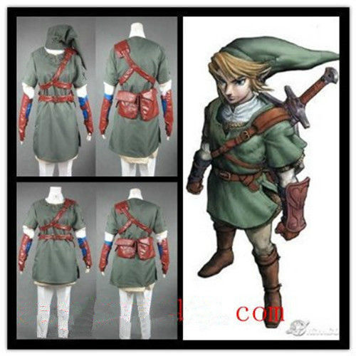 Anime The Legend of Zelda Twilight Princess Link Suit Cosplay Costume