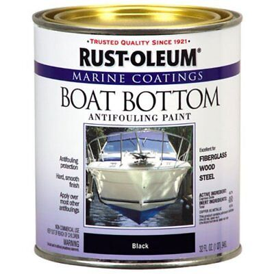 Boat Paint Marine Smooth Finish Bottom Antifouling 1-Quart Black Made In -