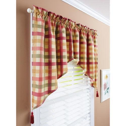 Swag curtains ebay Better homes and gardens valances for small windows