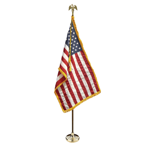 New! 3x5 U.S. American Indoor Flag Pole Parade Set/Kit
